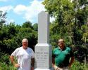 Along side with Todd Willis, Owner and Operator of Parmer Monument, and David Satterwhite, City of LaGrange Cemetery Division
